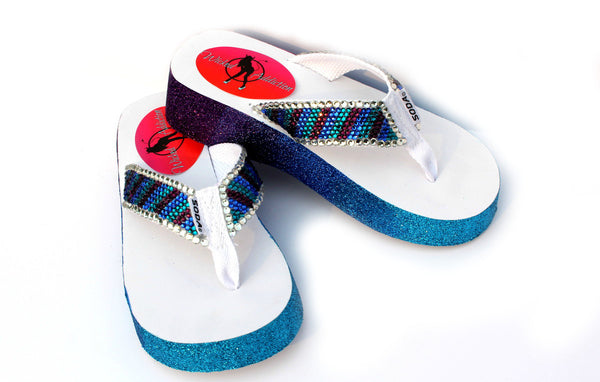 Sparkling Ombre Swarovski Crystal Flip Flop - Wicked Addiction
