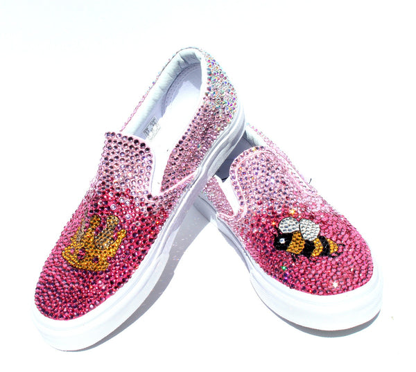 "Pink Ombre ""Queen Bee"" Crystal Shoes"