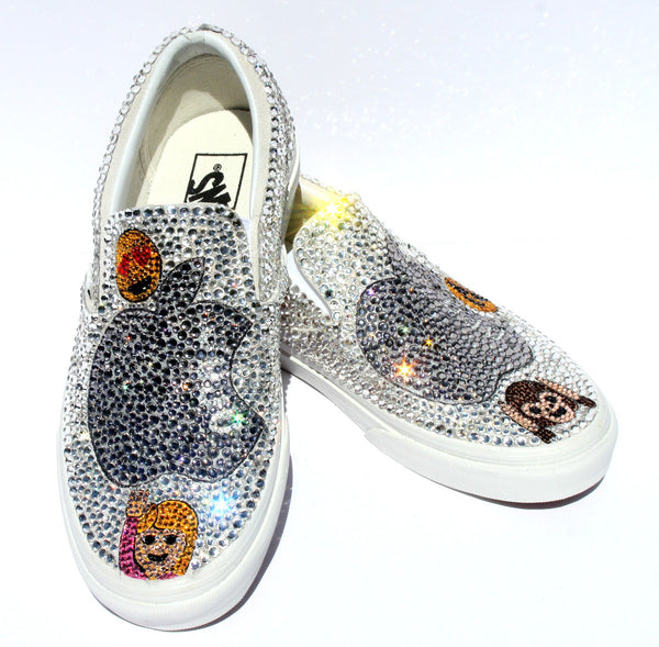 Swarovski Crystal Vans with Emojis of Your Choice - Wicked Addiction
