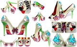 Till Death Do Us Part Sailor Tattoo Crystal Heels - Wicked Addiction