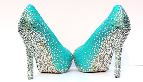 Robin's Egg Blue Platform Peep Toe Heel (Comes in Other Colors) - Wicked Addiction