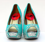 Robin's Egg Blue Platform Peep Toe Heel (Comes in Other Colors)