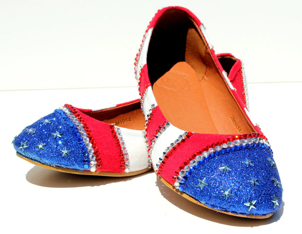 Red, White, and Blue Patriotic Flats - Wicked Addiction