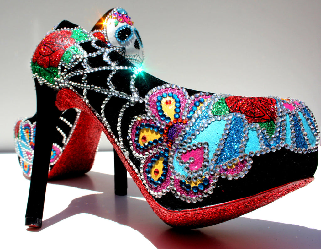 Day of the Dead Sugar Skull Heels