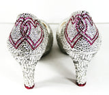 Crystal Bridal Heels with Linking Hearts