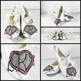 Crystal Ballet Flat with Monogram Heart