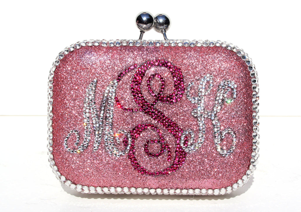 Personalized Monogram Crystal Clutch - Wicked Addiction