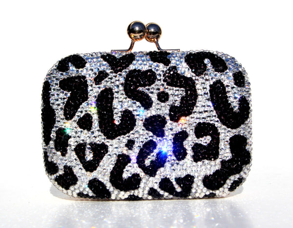Crystal Leopard Clutch - Wicked Addiction