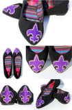 Fleur De Lis Swarovski Crystal Flats - Wicked Addiction
