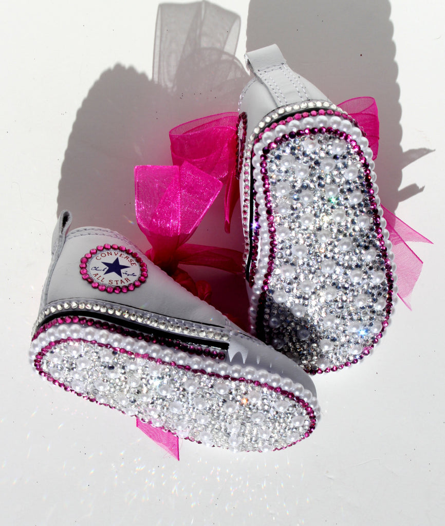 Crystal Converse Crib Shoes - Wicked Addiction