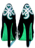 Lucky Irish Crystal Heels