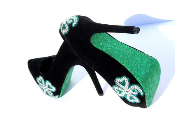 Lucky Irish Crystal Heels - Wicked Addiction