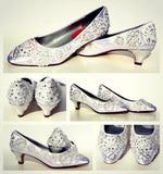 Classic Lace Wedding Kitten Heel - Wicked Addiction