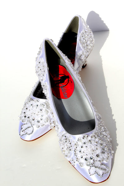 Classic Lace Wedding Kitten Heel