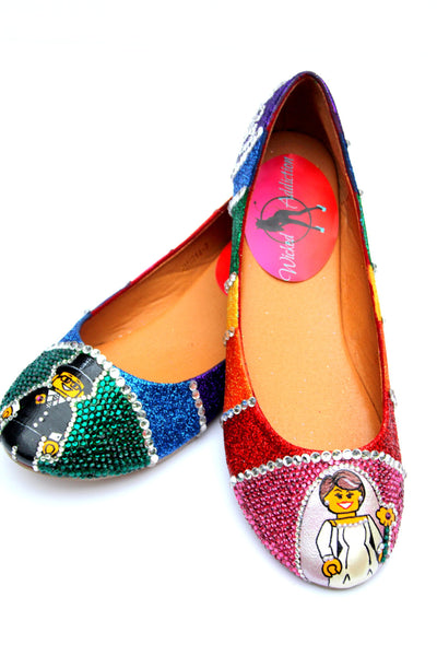 Rainbow Bridal Crystal Flats