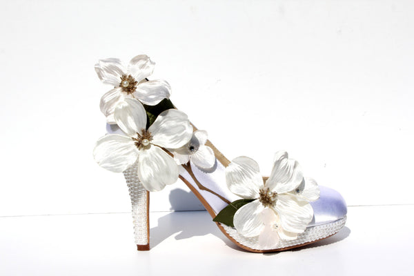 Dogwood Flower Bridal Heel - Wicked Addiction