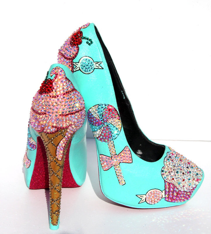 Ice Cream & Cupcake Crystal Heels