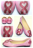 Breast Cancer Heart Ribbon-Custom Crystal Flats