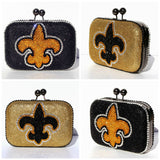 Fleur De Lis Crystal Clutch - Wicked Addiction
