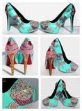 Ice Cream & Cupcake Crystal Heels - Wicked Addiction