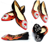 Firefighter Crystal Glitter Flats - Wicked Addiction
