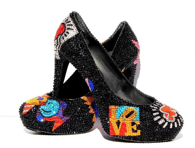 Pop Art Swarovski Crystal Heels