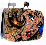 Comic Book Crystal Fashion Clutch - Wicked Addiction