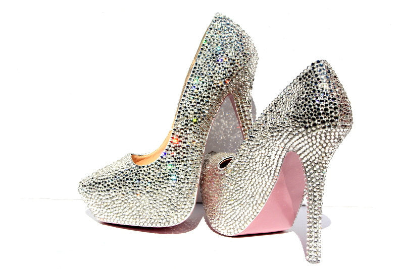 Custom Swarovski Crystal Heel (Your Color Choice!) - Wicked Addiction