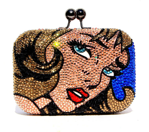 Comic Book Crystal Fashion Clutch