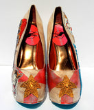 Hand-Painted Circus Ringmaster Crystal Heels - Wicked Addiction
