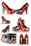 High School Grad/Prom Crystal Shoe, Customize with YOUR School Mascot - Wicked Addiction
