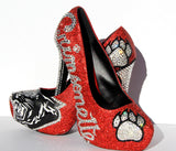 High School Grad/Prom Crystal Shoe, Customize with YOUR School Mascot