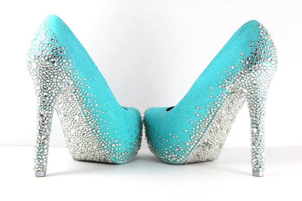 Shoes wicked addiction tiffany blue heels with swarovski crystals multiple color choices junglespirit Gallery