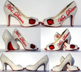 Pearl & Red Swarovski Crystal Heel - Wicked Addiction