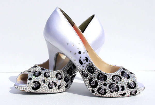 Crystal Leopard Wedding Heels