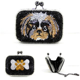 Swarovski Crystal Puppy Clutch - Wicked Addiction