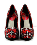 Red & Silver Plaid Swarovski Crystal Heels - Wicked Addiction