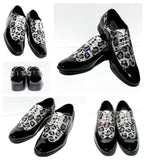 Men's Swarovski Crystal Leopard Wing Tip Shoe