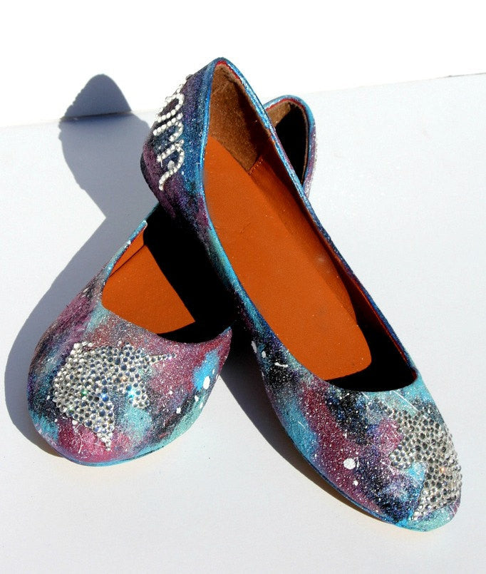 Unicorn Galaxy Swarovski Crystal Flats