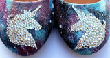 Unicorn Galaxy Swarovski Crystal Flats - Wicked Addiction