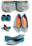 Swarovski Crystal Ballet Flat (Your Choice of Colors) - Wicked Addiction