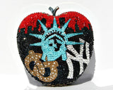 NYC Big Apple Swarovski Crystal Clutch