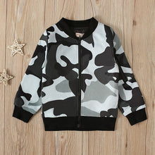 Load image into Gallery viewer, Camo Zipper Cardigan