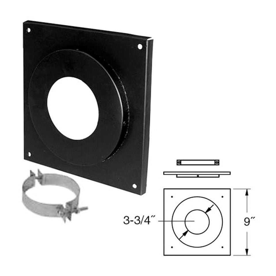 "Duravent 4"" PelletVent Pro Ceiling Support Firestop Spacer 4PVP-FS"