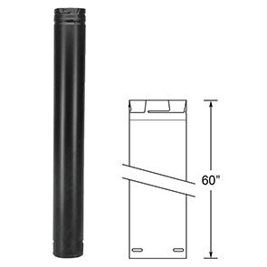 "Duravent 3"" x 60"" Straight Chimney Pipe Black 3PVP-60B"