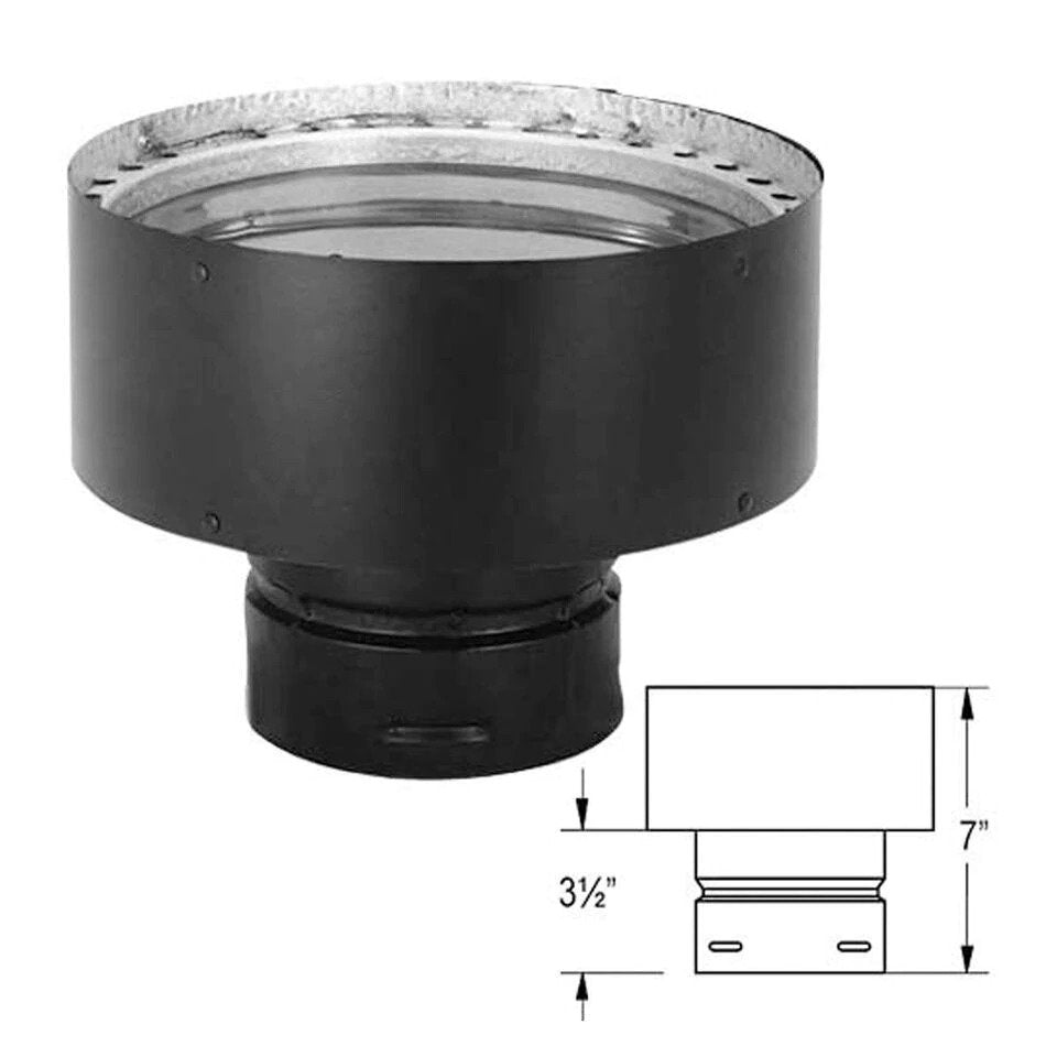 "Duravent 4"" to 6"" PelletVent Pro Chimney Adapter - 4PVP-X6"