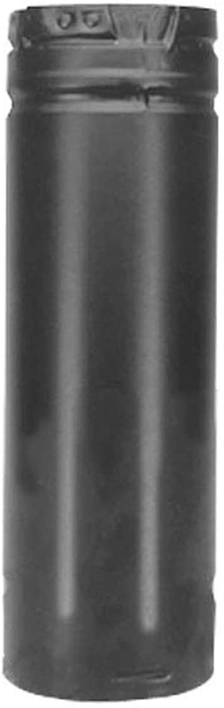 "Duravent 3"" x 6"" Straight Length Chimney Pipe Black 3PVP-06B"