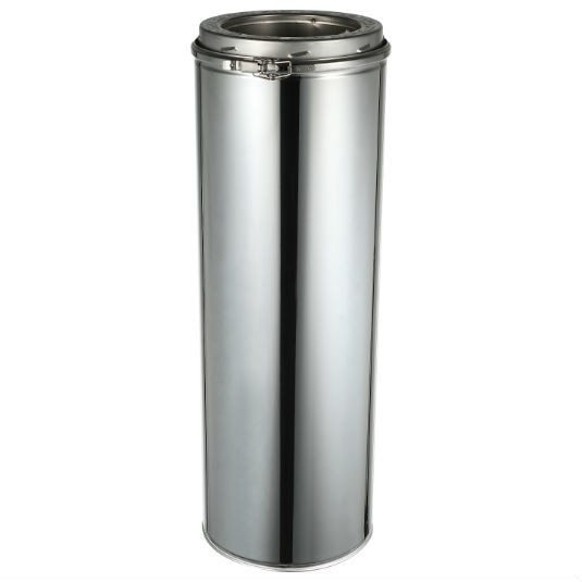 ComfortBilt Double Wall Stainless Steel Chimney 6-Inch x 6-Inch