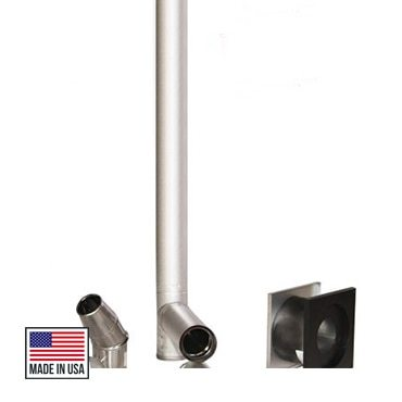 Duravent 3 inch Pellet Stove Piping Kit - Silver