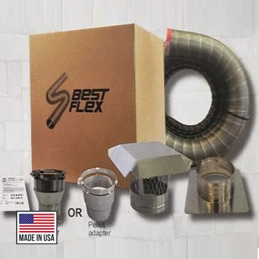 ComfortBilt HP22i Pellet Stove Insert 4-inch Piping Kit